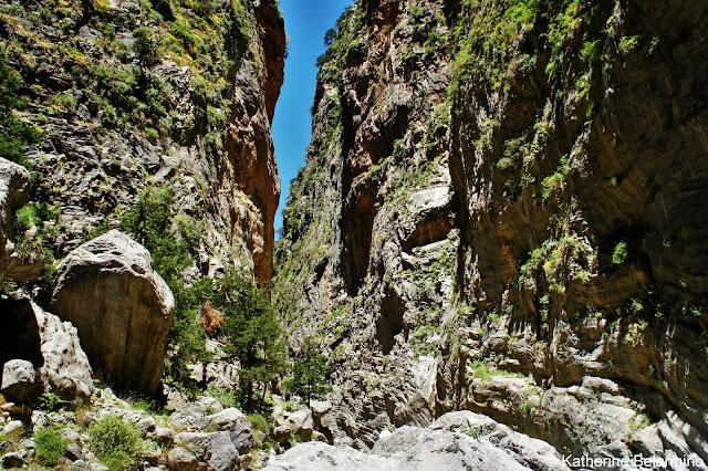 Samaria Gorge Walls and Rocks Samaria Gorge Hike Crete Greece