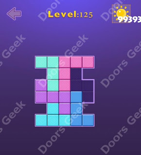 Cheats, Solutions, Walkthrough for Move Blocks Easy Level 125