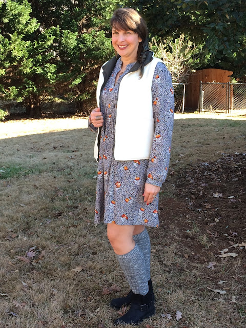 Styling a floral dress with moto boots