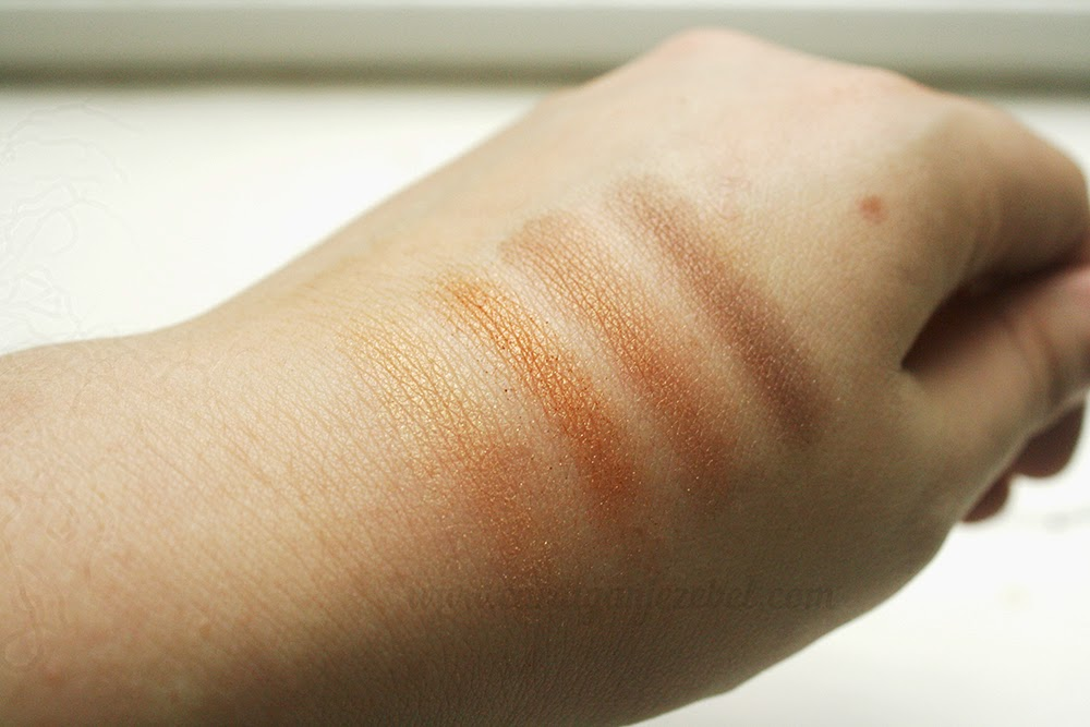 W7 cosmetics toasted palette swatch review