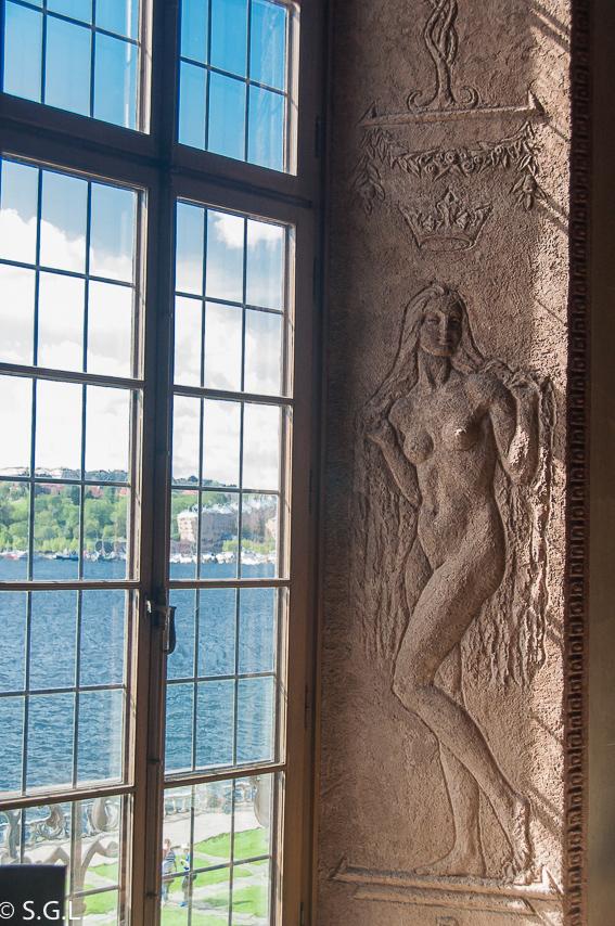 Ventana del ayuntamiento de Estocolmo