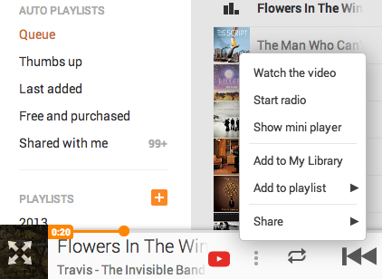 Google All Your: YouTube Videos in Google Play Music