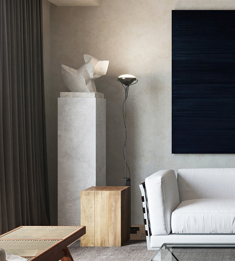 Sophisticated interiors with moody atmosphere and plush textures | Javier Wainstein