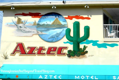 Aztec Wall Mural Street Art in Wildwood Crest, New Jersey