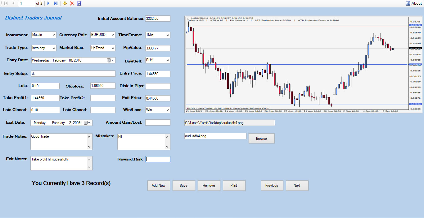 Free forex trading journal software