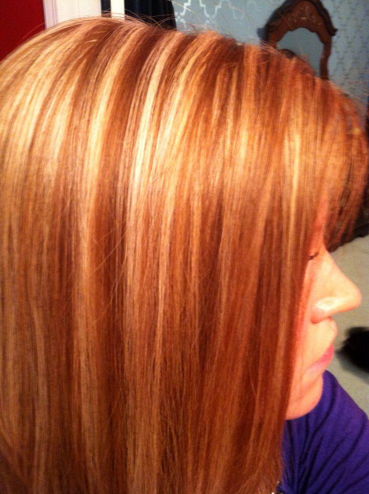 Highlights Hair Idea Dark Brown Hair With Chunky Golden Highlights