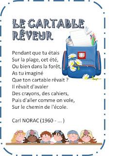Image65 - DES POESIES POUR LA RENTREE ! Thèmes : l'école – les lettres – écrire