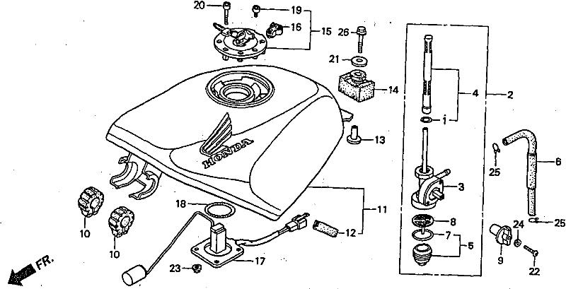 NSR Salatiga: NSR 150 SP Parts Catalogue: Fuel Tank