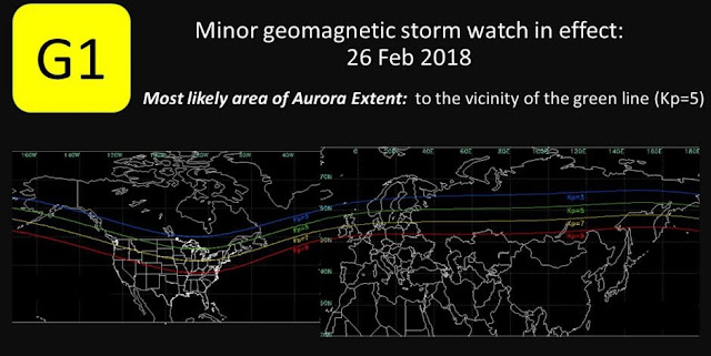 minor geomagnetic storm may hit earth on monday