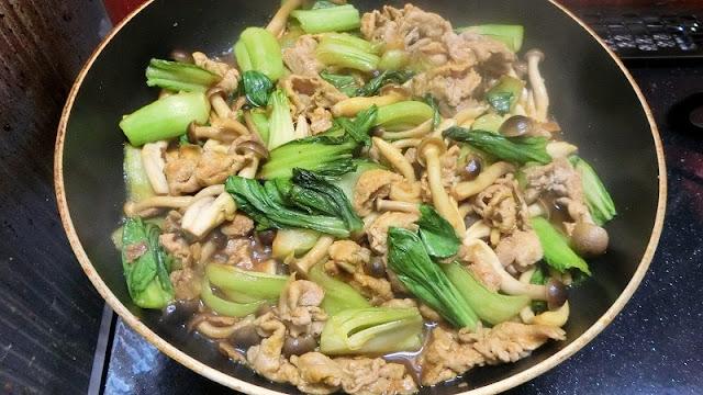 調味料と馴染むように炒め煮にして煮汁がなくなる直前に火を止める
