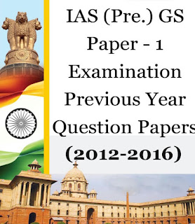 IAS PRE. GS PAPER 1 EXAMINATION PREVIOUS YEAR QUESTION PAPERS