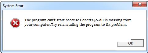 Télécharger Concrt140.dll Fichier Gratuit Installer