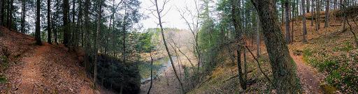 Kickapoo River on the Hemlock Trail at Mt. Pisgah Hemlock Hardwoods State Natural Area near Ontario WI