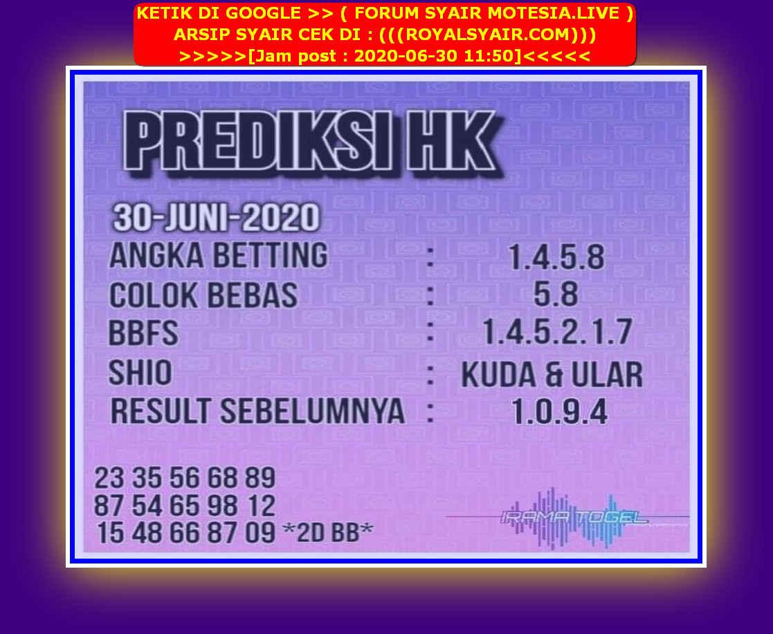 Kode syair Hongkong Selasa 30 Juni 2020 290