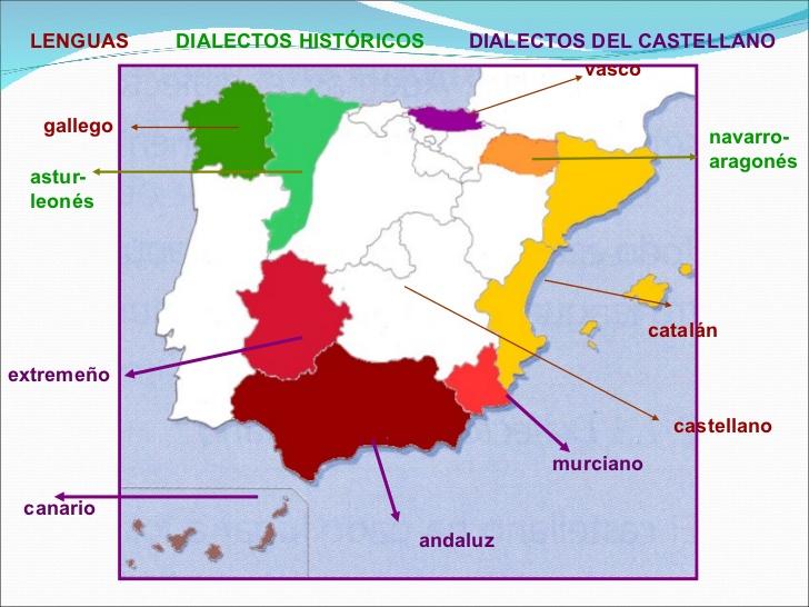 Dialectos De España Mapa.Somos Primaria Lenguas Y Dialectos En Espana