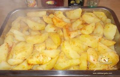 Preparare cartofi aurii la cuptor-etapa 2