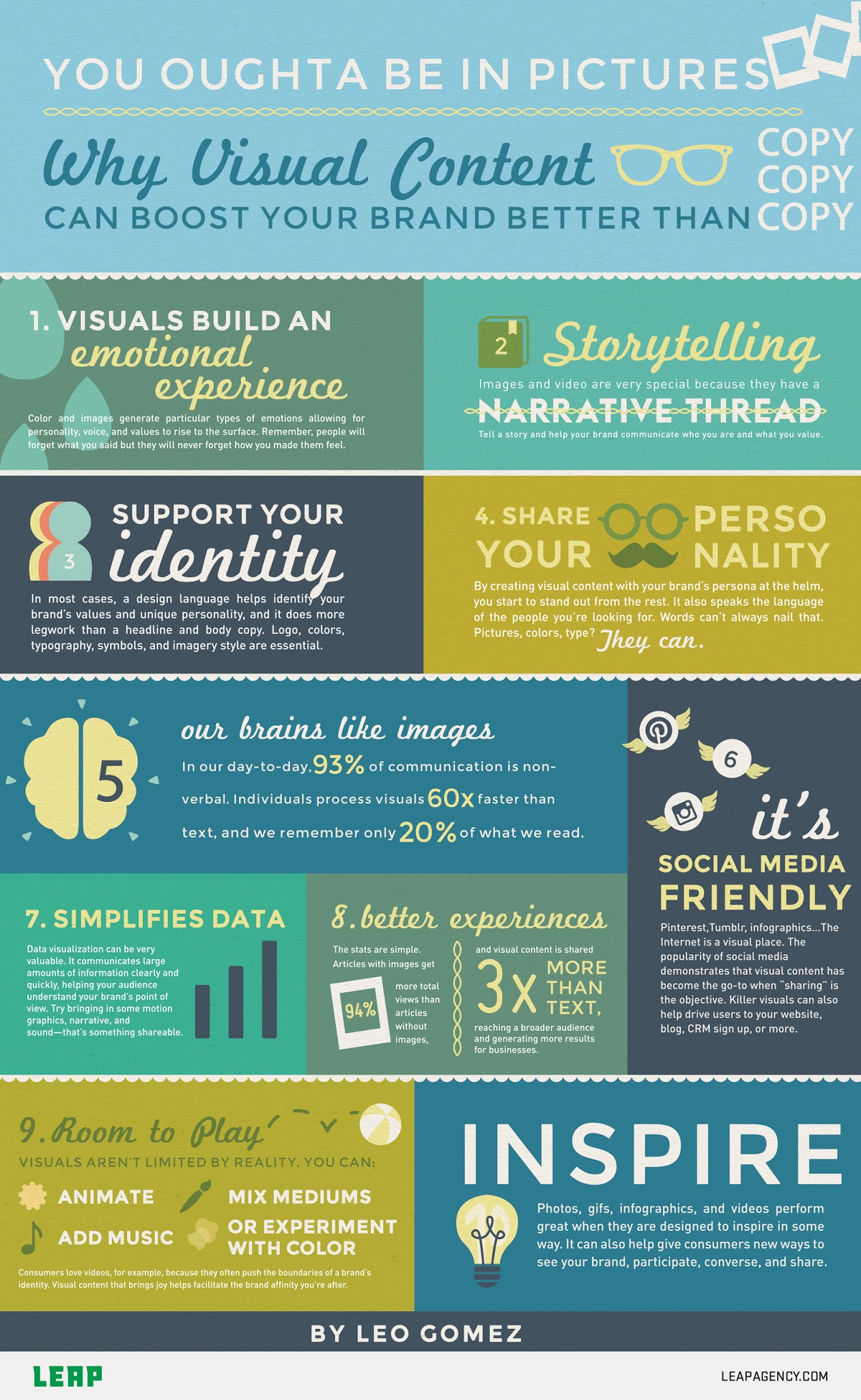 Why Visual Content Can Boost Your Brand Better Than Copy - #infographic