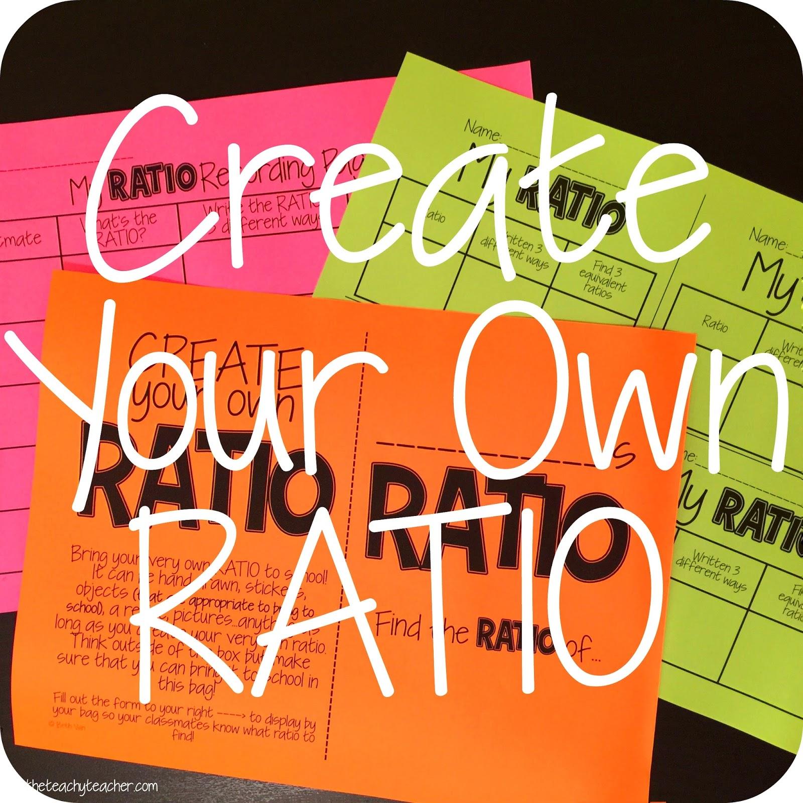 Theteachyteacher Round 2 Create Your Own Ratio