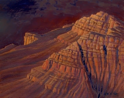 grand canyon art painting process km withers