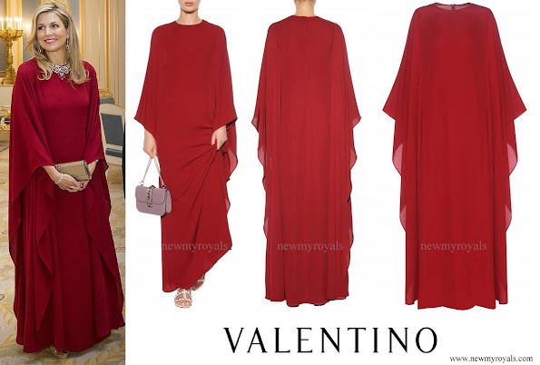 Queen Maxima wore VALENTINO Silk dress