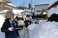 山田健太郎さん雪かきボランティア