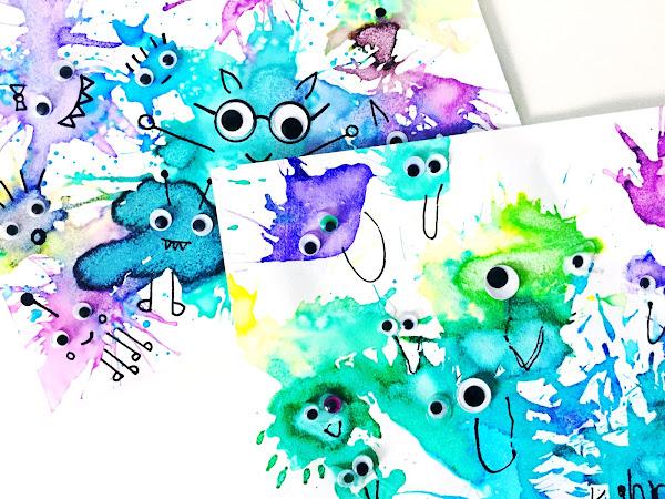 Blow-paint Monsters