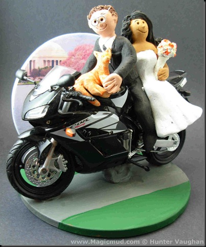 motorcycle couple wedding cake topper justweddings inspired from nigeria s wow factor planners 17606