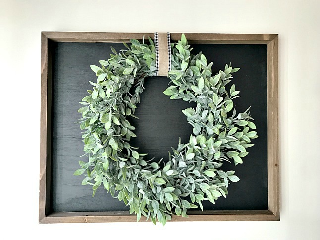 Repurposed Chalkboard and Wreath Art. Homeroad.net