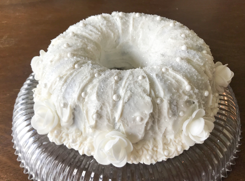 Almond Wedding Cake.Food Lust People Love Almond Wedding Cake Bundtbakers