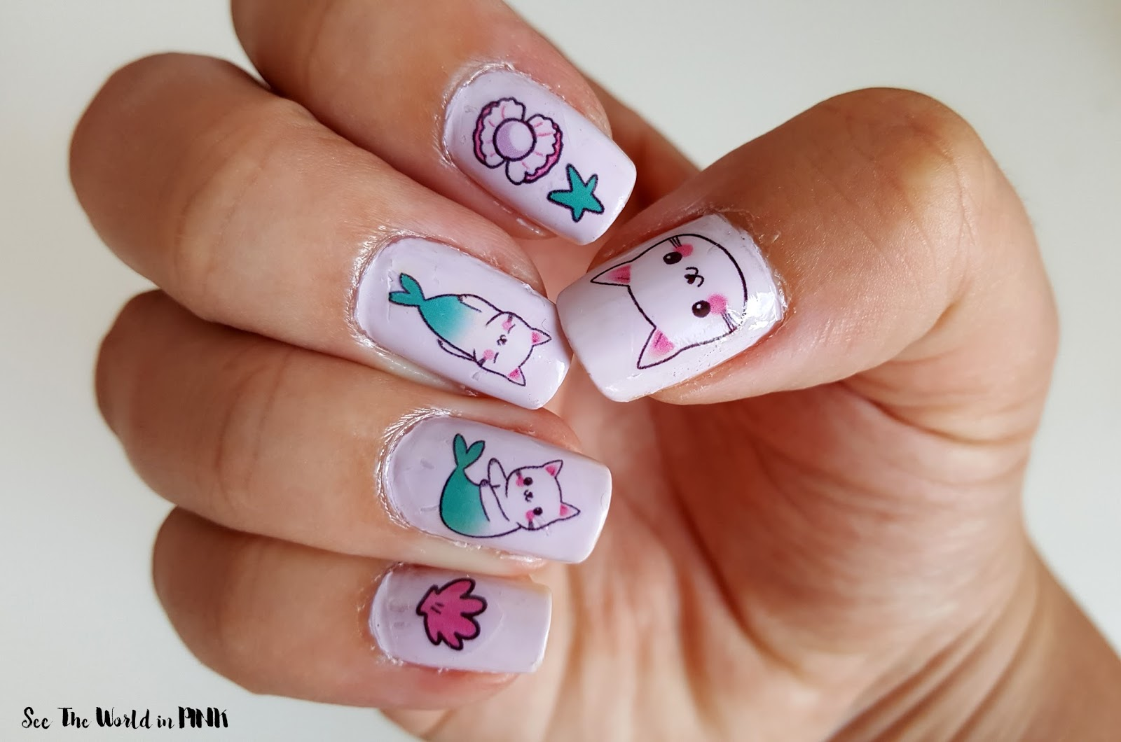 Manicure Tuesday - Purrmaid & Merkittens Nail Decals!