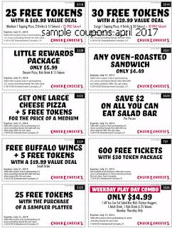 Chuck E Cheese coupons april
