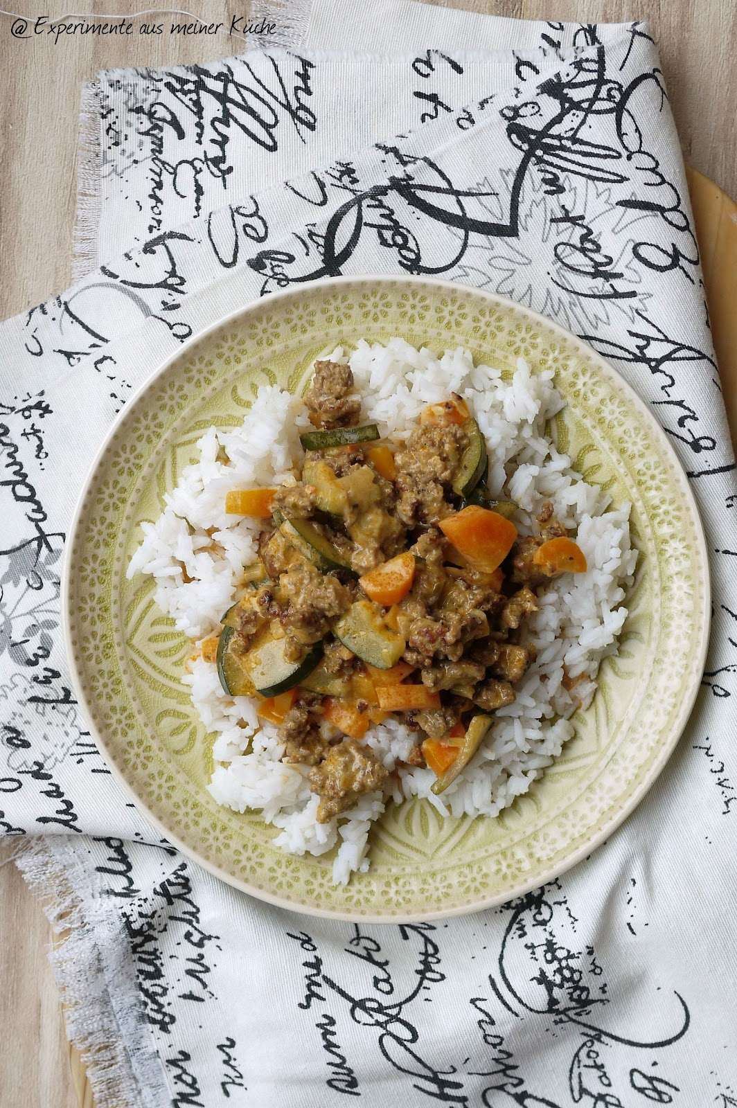 aus meiner Küche: Cremige Gemüse-Pfanne mit Hackfleisch