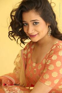 Telugu Actress Santoshi Sharma Latest Stills in Salwar Kameez at HBD Movie Teaser Launch  0063.JPG