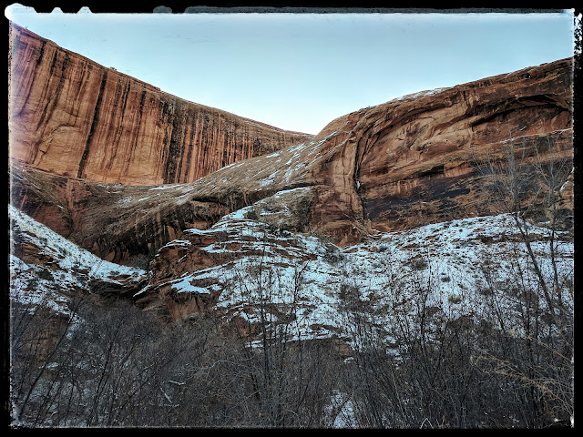 Cliffs and Future Arch in Grsandstaff Canyon