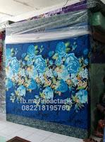 Kasur inoac motif bunga biru donker 2 inoactasik