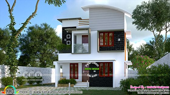 Small double storied house in day view