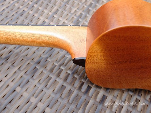 DJ Morgan Soprano ukulele neck heel