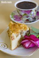 (Ciasto migdałowe z rabarbarem