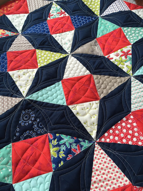Summer Breeze from Fat Quarter Shop at Quilting Mod Quilted by Tisha Cavanaugh of Quilt Icing
