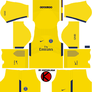 Paris Saint-Germain (PSG) kits 2017/2018 - Dream League Soccer