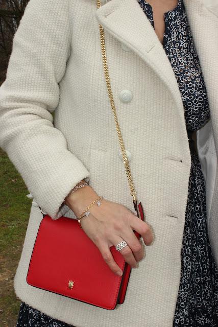 robe maje en hiver, sac rouge zara, les petites bulles de ma vie