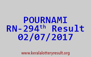 POURNAMI Lottery RN 294 Results 2-7-2017