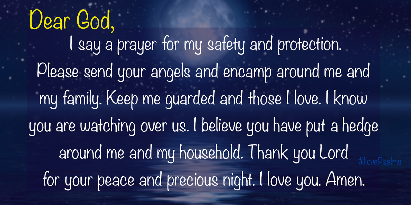 Short Good Night Prayers For Protection