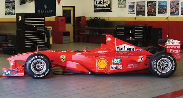 Ferrari F-2000 de Michael Schumacher sale a la venta