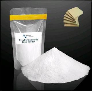 The form of urea formaldehyde powder