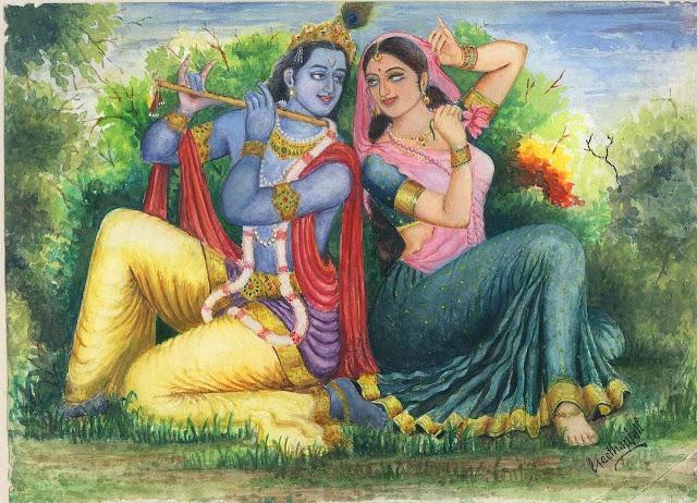 Radha Krishna Drawing
