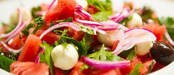 salada de melancia receita