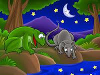 Dongeng Katak dan Tikus (Aesop)