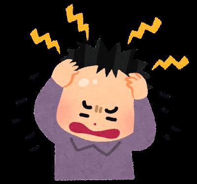 ストレスによる抜け毛のイラスト