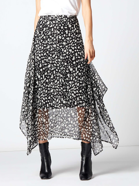 label lab lela asymmetric cheetah print skirt